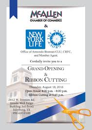 New Office Opening Invitation Card New York Life Insurance The Nautilus Group Grand Opening