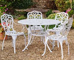 Canterbury Cast Aluminium Garden Table 4 Chairs Scotts Of Stow