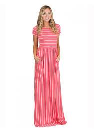 striped pocket maxi dress rose lu may swimwear