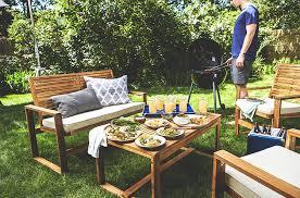 Textilene Patio Furniture by Amazon Com Safavieh Home Collection Hailey Outdoor Living Acacia