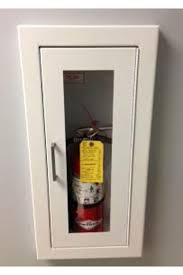 semi recessed fire extinguisher cabinet larsens 2409 5r semi recessed architectural series fire extinguisher