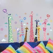 Giraffe Wall Decals For Nursery Large Colorful Giraffe Wall Decals Sticker Room Nursery