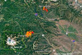 Satellite Map Of Washington State by Two Wildfires In Washington Were Very Active Tuesday U2013 Wildfire Today