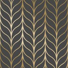 holden shimmering striped wallpaper art deco trellis metallic 50062