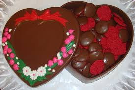 chocolate heart candy chocolate heart shaped jewelry box filled with candies heart