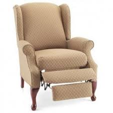 slipcover for recliner chair wing back recliners foter