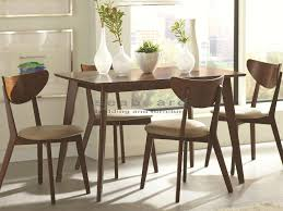 west elm mid century dining table appealing kersey mid century dining table set 5 pc 103061 in and