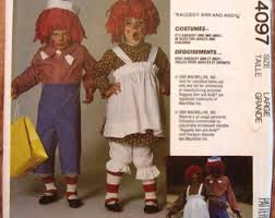 Raggedy Ann Andy Halloween Costumes Adults Raggedy Ann Costume Etsy