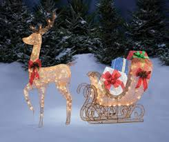 Outdoor Reindeer Decorations Outdoor Christmas Decorations Big Lots