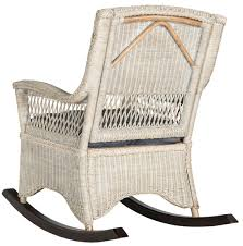 Blue Wicker Rocking Chair Sea8036a Rocking Chairs Furniture By Safavieh