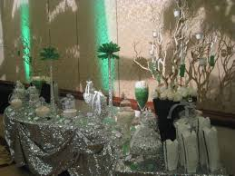 a green and silver inspired wedding candy buffet powell u0027s sweet