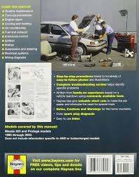 haynes repair manuals mazda 323 u0026 protege 90 00 excludes