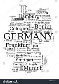 Dortmund Germany Map by Map Germany Outline Made City Names Stock Vector 98562449