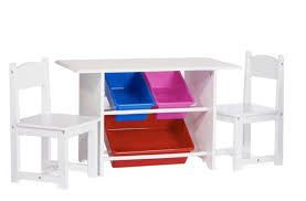 Kids Activity Desk by Kids Activity Table And Chair Set 3 Piece White Wood Toddler Play