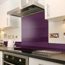 deep purple glass splashback upstand in 140mm x 1000mm