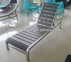 modern aluminum sun lounger plastic wood outdoor daybed buy sun