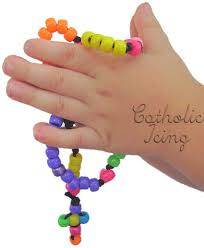 rosary for kids how to make a rosary with kids
