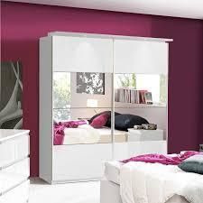 White Gloss Bedroom Furniture Chelsea Mirrored Sliding Wardrobe
