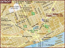 map usa detroit map of detroit