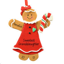 personalized ornaments santa gingerbread