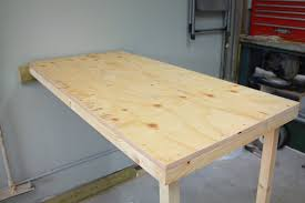 Folding Table On Wall Turtles And Tails Fold Up Garage Worktable