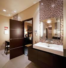 Masculine Bathroom Designs Impressive Mosaic Wall Tiles With White Acrylic Sink For Masculine