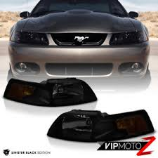ebay mustang headlights 1999 2000 2001 2002 2003 2004 ford mustang black smoke front
