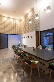 Concrete Block Home Designs C Shaped Concrete Block Home Wraps Around Swimming Pool Courtyard
