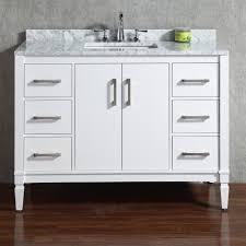 adornus aden 43 inch contemporary white bathroom vanities inside