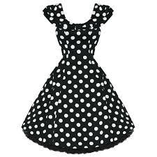 womens ladies new vintage 1950s vtg black polka dot party prom