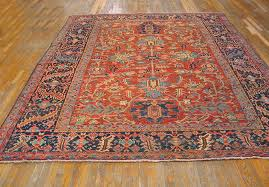 Antique Heriz Rug Heriz Rug 21373 Persian Informal 8 U0027 10 U0027 U0027 X 11 U0027 0 U0027 U0027 Rust Origin