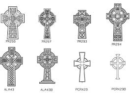 engraved cross designs on memorials