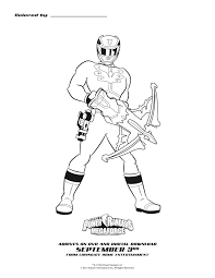 power rangers megaforce blue ranger coloring sheet printable