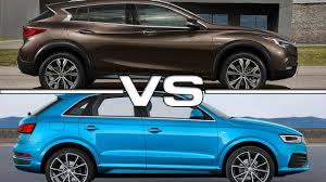 lexus nx200t vs bmw x1 2017 infiniti qx30 vs audi q3 youtube