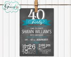 chalkboard surprise birthday dinner party invitation for