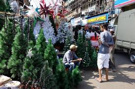 christmas tree market christmas decore