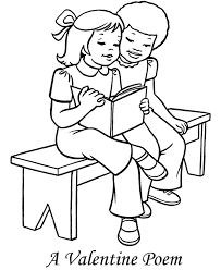 poem for valentine coloring page valentine coloring pages of
