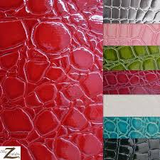 Alligator Upholstery Vinyl Faux Fake Leather Pleather Embossed Shiny Alligator Fabric