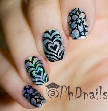 phd nails color club harp on it swatch and stamping nail art