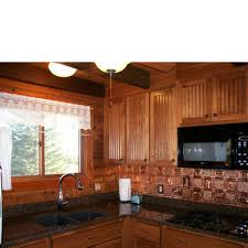 Gwens Cabin Copper Backsplash Tile - Copper backsplash