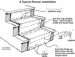 Staircase Runner Rugs How To Install A Stair Runner