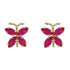 children s earrings 14k gold green emerald butterfly children s earrings gemologica