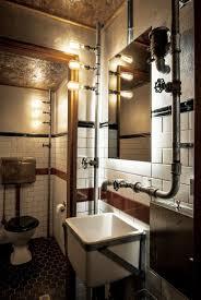 industrial bathroom lighting stunning style chrome surprising diy