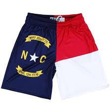 North Carolina Flag History North Carolina Flag Lacrosse Shorts By Tribe Lacrosse Tribe Lacrosse