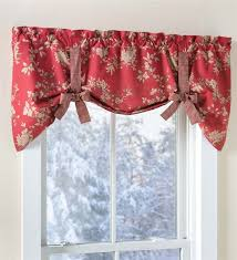 Tie Up Valance Curtains Tie Up Floral Cotton Window Valance With Contrasting Ties Valances