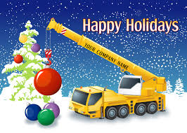 construction christmas cards construction holiday cards