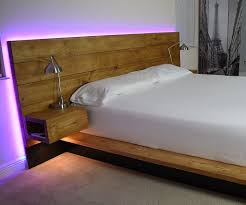 diy platform bed with floating night stands 7 steps with pictures