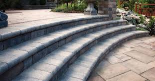 Unilock Retaining Wall Stunning Coping Options For Your Retaining Wall And Steps In