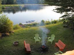 Firepit Swing by Lakefront Quiet Home Fireplace Dock Homeaway Tobyhanna