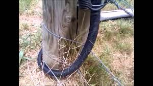 how to connect electric fence across gate youtube